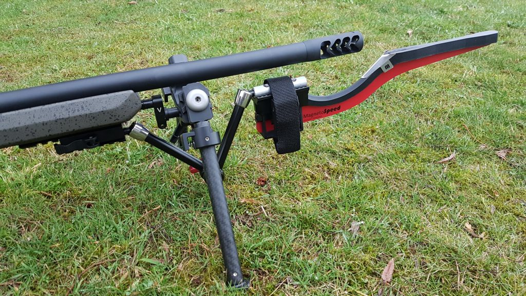 Photo of my Magnetospeed V3 mounted to my rifle